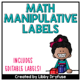 Math Manipulative Labels {Black and White Polka Dot}