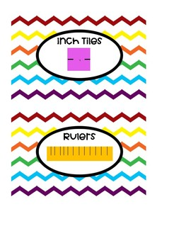 Math Manipulative Labels (Chevron, Rainbow, 4X6)