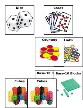 Math Manipulative Labels EDITABLE AND FREE
