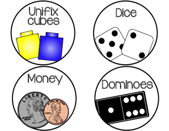 Math Manipulative Labels {Rounded}
