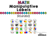 Round Math Manipulative Labels
