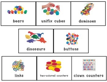 Math Manipulative Labels-Small