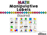 Square Math Manipulative Labels