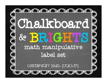 Math Manipulative Labels for k-5 {Chalkboard & BRIGHTS}