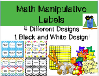 Math Manipulative Lables