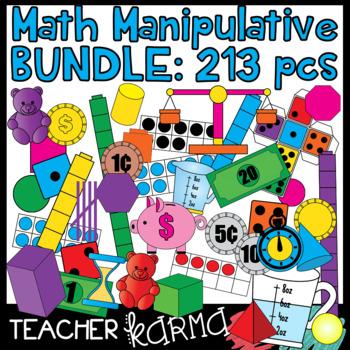 Math Manipulative Clipart MEGA-BUNDLE * 213 Pieces