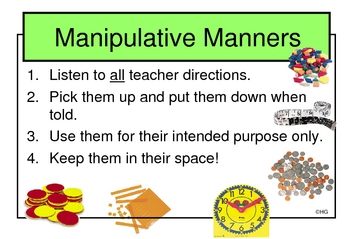 Math Manipulative Manners Poster