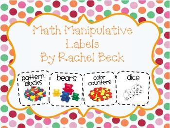 Math Manipulative Small Labels {Updated February 8, 2015}