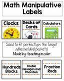 Math Manipulative Supply Labels