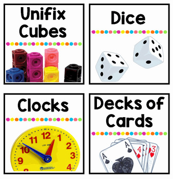 Math Manipulative Supply Labels
