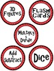 Math Manipulative Supply Labels Red, Black, and White Fanc