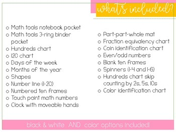Math Manipulative Tool Bucket