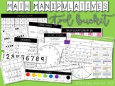 Math Manipulative Tool Bucket