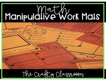Math Manipulative Work Mats