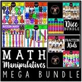 Math Manipulatives Clip Art Bundle {Educlips Clipart}