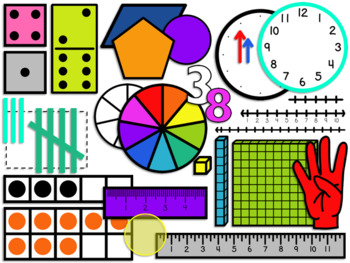 Math Manipulatives Clipart {GROWING BUNDLE} by Ilbra Shahbaz | TpT