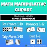 Math Manipulatives Clipart - Tally Marks Ten Frame Dice Do