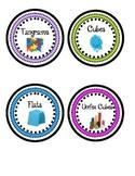Math Manipulatives Labels- Colorful