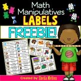 Math Manipulative Labels FREEBIE!