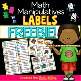 Math Manipulative Labels FREEBIE!