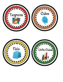Math Manipulatives Labels- Primary Colors
