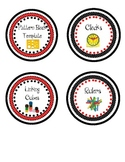 Math Manipulatives Labels- Red and Black