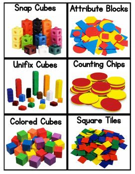 math manipulatives labels with visuals by ilana frank tpt. Black Bedroom Furniture Sets. Home Design Ideas