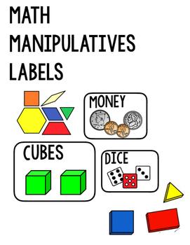 Math Manipulatives Lables