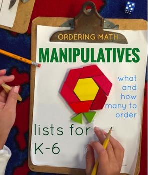 Math Manipulatives List by grade