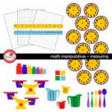 Math Manipulatives - Measuring &  Data Clipart by Poppydreamz (COLOR & LINE ART)