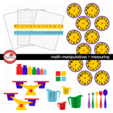 Math Manipulatives - Measuring &  Data Clipart by Poppydre