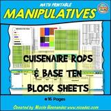 Math Manipulatives - Printable Cuisenaire Rod and Base Ten Block Sheets