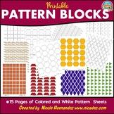 Math Manipulatives - Printable Pattern Block Sheets