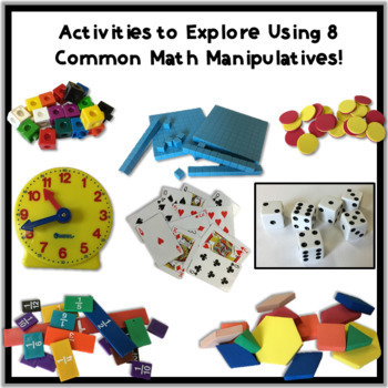 Math Manipulatives Scoot/Centers