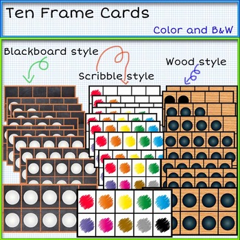Math Manipulatives bundle clip art -Color and B&W. 186 items!