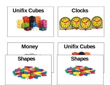 Math Manupulative Labels