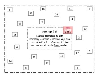 Math Maps:  Comparing Numbers-Less (MAFS)
