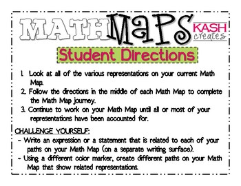 Math Maps:  Finding 10 Less of a Number (MAFS)