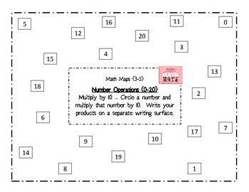 Math Maps:  Multiply a Number by 10 (MAFS)