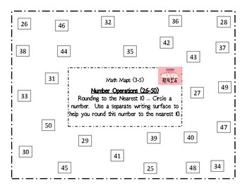 Math Maps:  Rounding to the Nearest Ten or Hundred (MAFS)