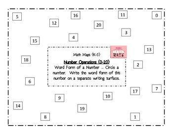 Math Maps:  Word Form of a Number (MAFS)