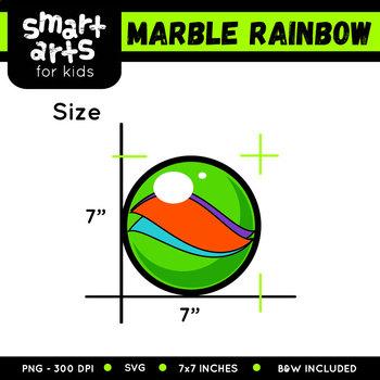 Math Marble Rainbow Clip Art