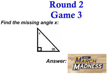 Math March Madness - Smartboard