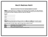 Math March Madness using mean, median, mode and range