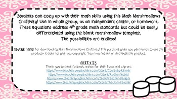 Math Marshmallow Craftivity
