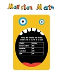 Math: Marty the Monster (estimation, rounding, & more!)