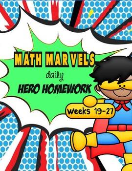 Math Marvels Daily Hero Homework 3rd weeks  (weeks 19 - 27)