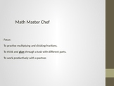 Math Master Chef - Doubling and Halving Fractions