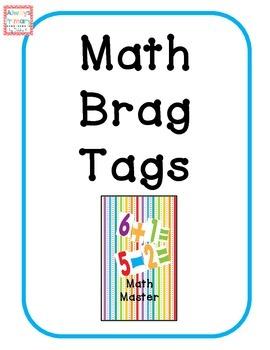 Math Master brag tags
