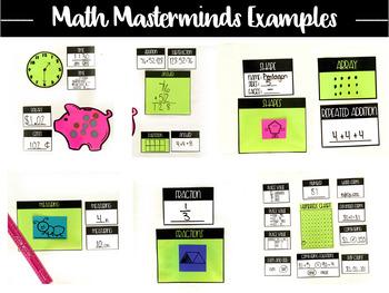Math Masterminds the Editable Calendar and Math Meeting Bulletin Board Set